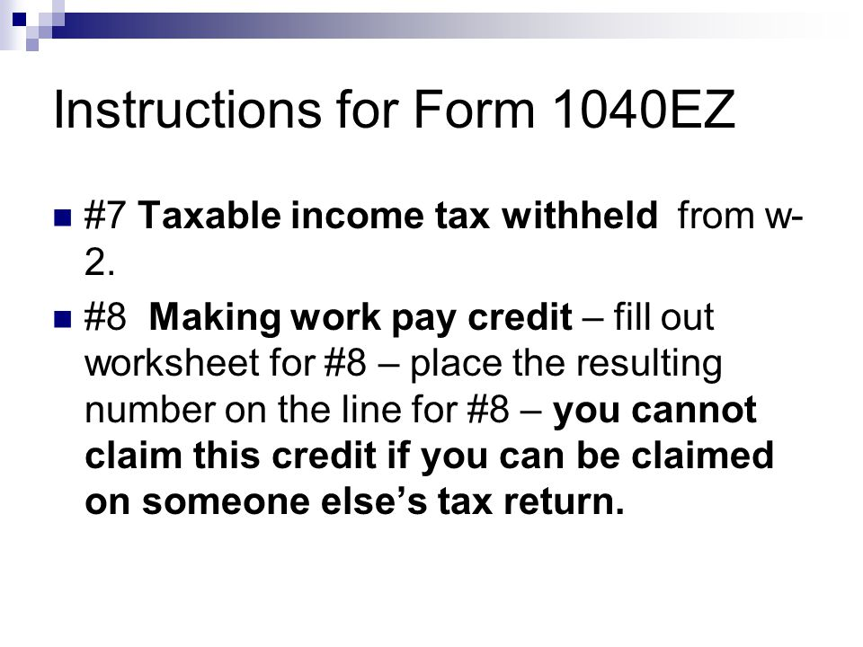 Federal Income Taxes Information You Should Know Ppt Download