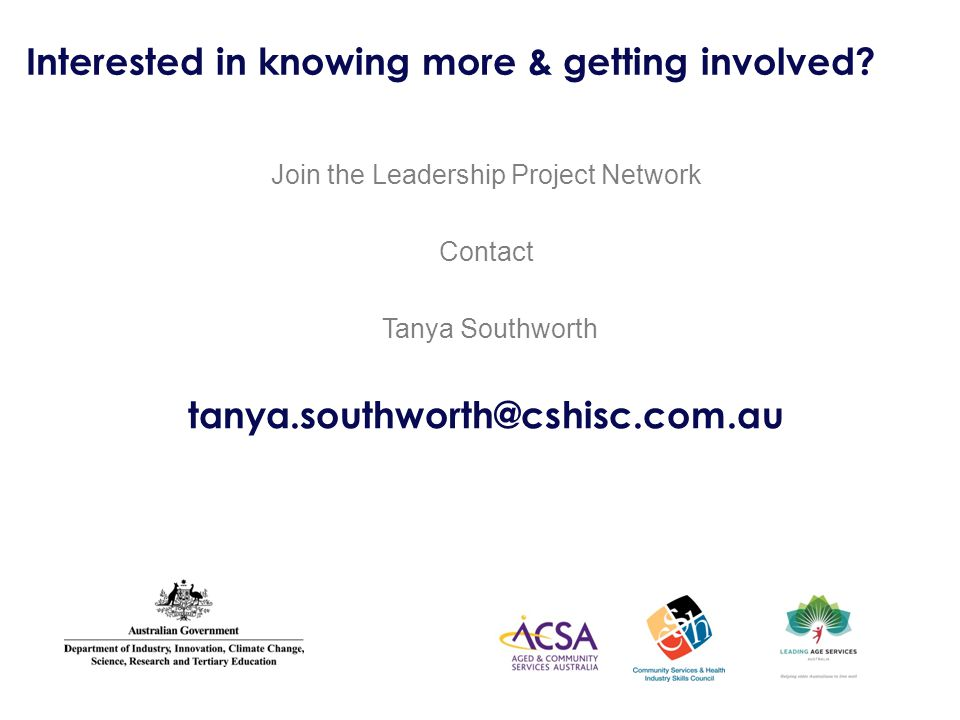 Interested in knowing more & getting involved.