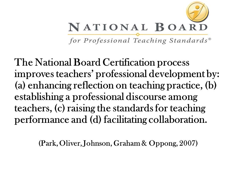 Choosing Excellence National Board Certification Youre At The Head