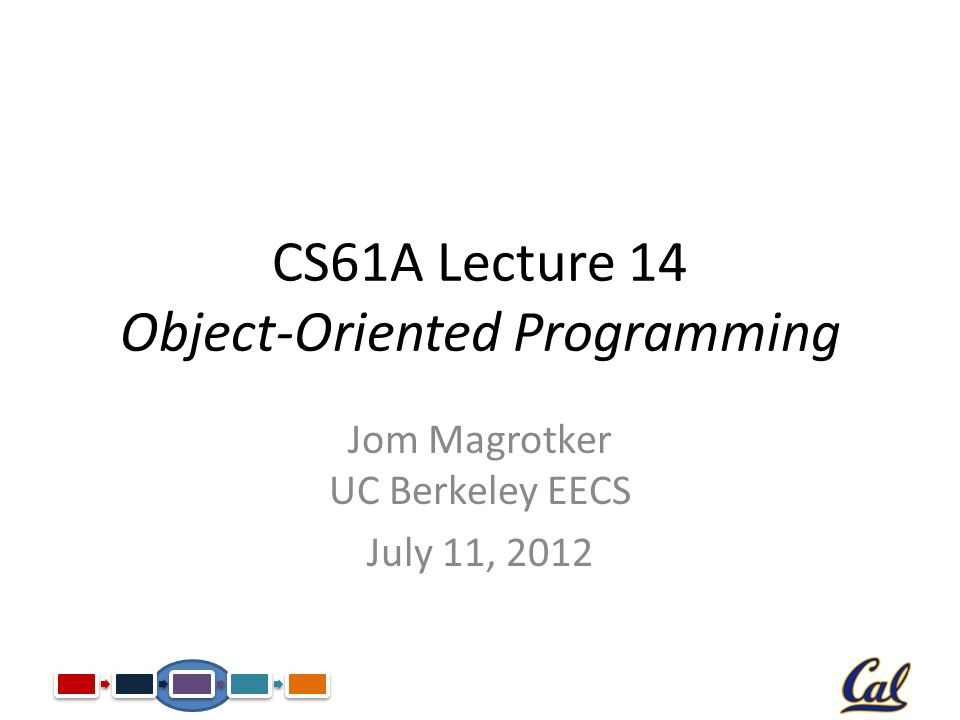 CS61A Lecture 14 Object-Oriented Programming Jom Magrotker UC