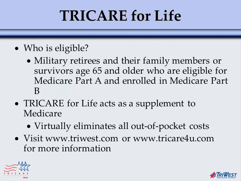 Title of Presentation Month Date, Year TRICARE for Life  Who is eligible.