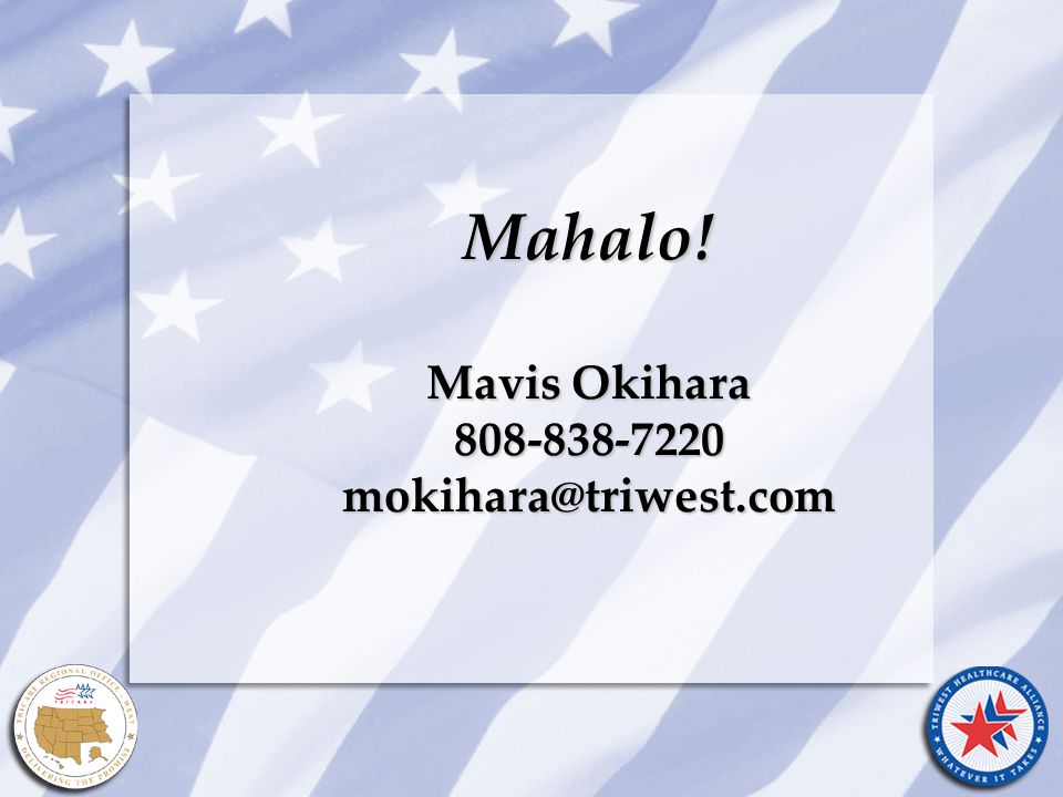 Title of Presentation Month Date, Year Mahalo! Mavis Okihara