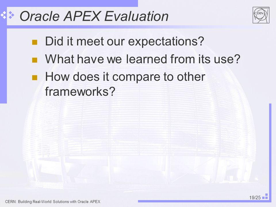 Oracle Apex 19