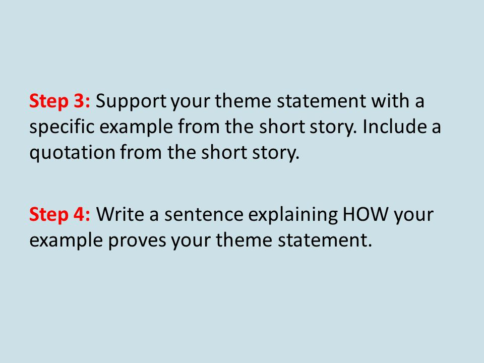 how to write a theme statement example