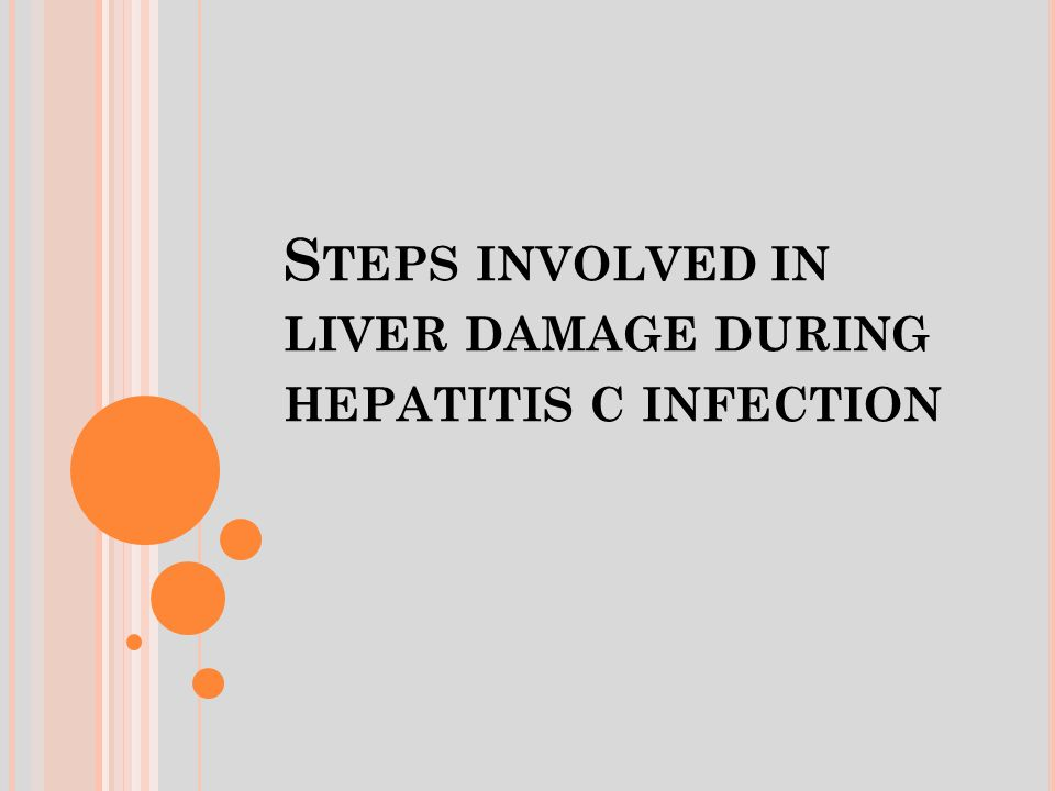S TEPS INVOLVED IN LIVER DAMAGE DURING HEPATITIS C INFECTION
