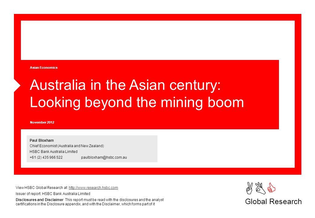 ABC Global Research Asian Economics Paul Bloxham Chief Economist