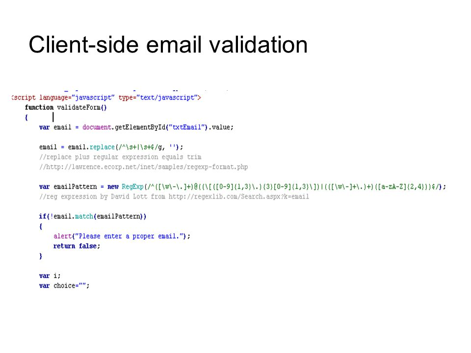Client-side  validation