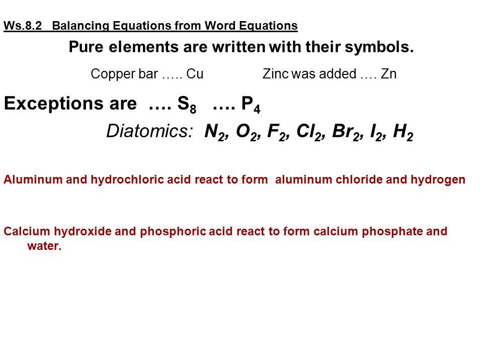 The Student Will Learn How To Readwrite Balance Chemical Equations