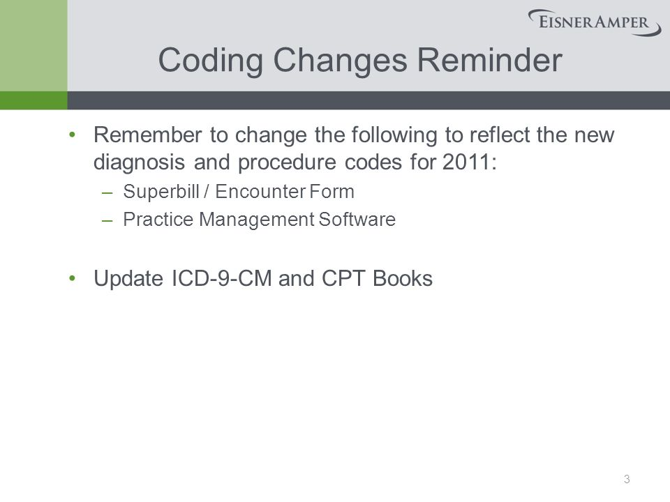 2011 CODING & DOCUMENTATION UPDATE Healthcare Services Group