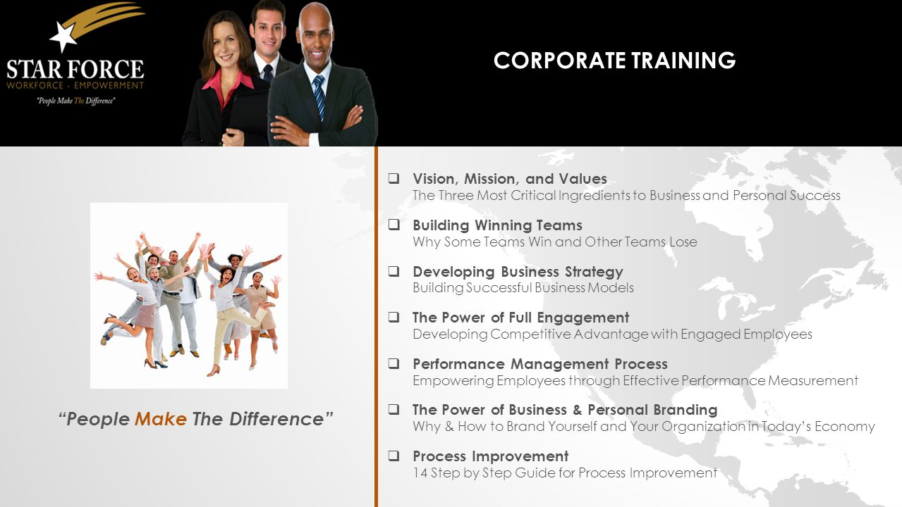 Corporate Course List People Make The Difference 700 N St Marys
