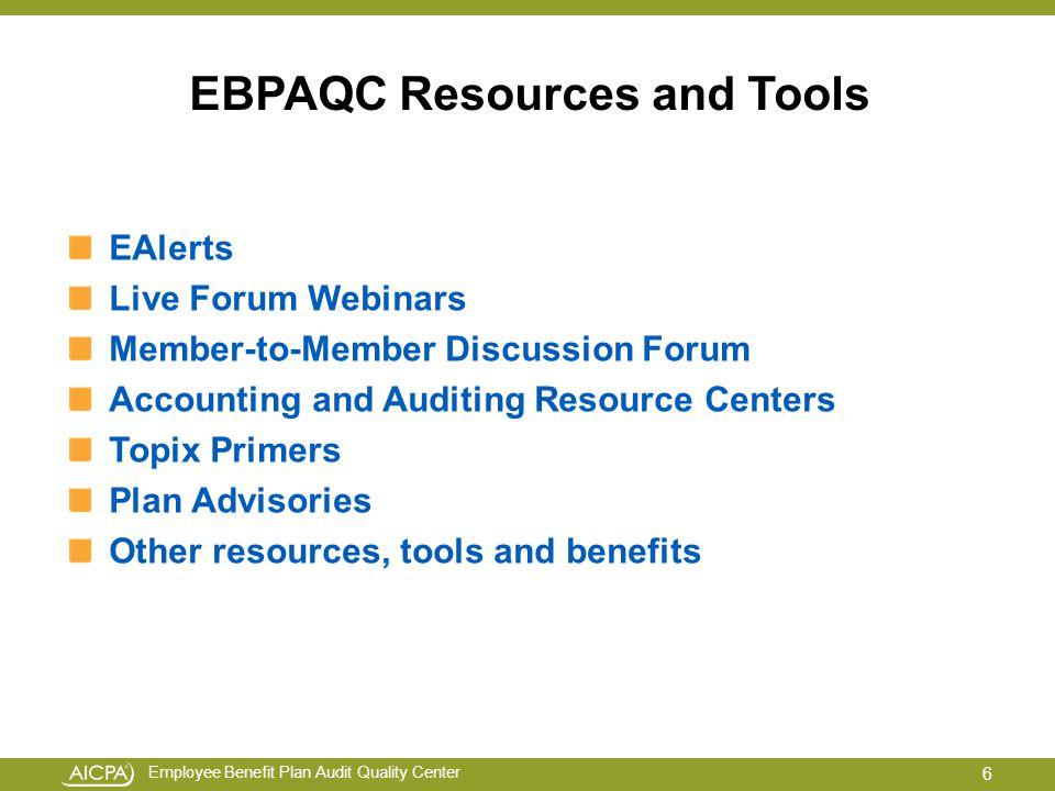 Employee Benefit Plan Audit Quality Center Webinar Troubleshooting