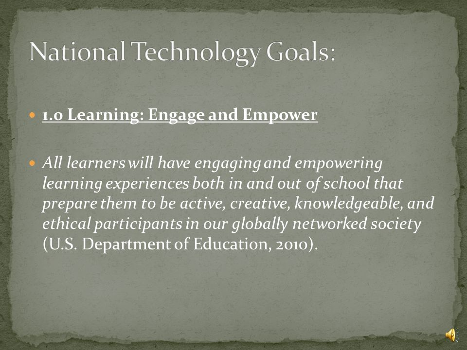 This presentation will see just how well Galena Park ISD's technology plan compares with the National Plan.