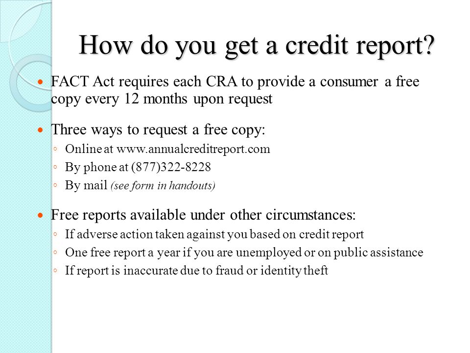 Credit Reports Sissy R Osteen PhD CFPR Oklahoma State