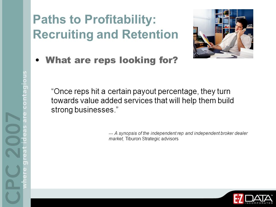 Building Rep Services Through Outsourcing: The cost