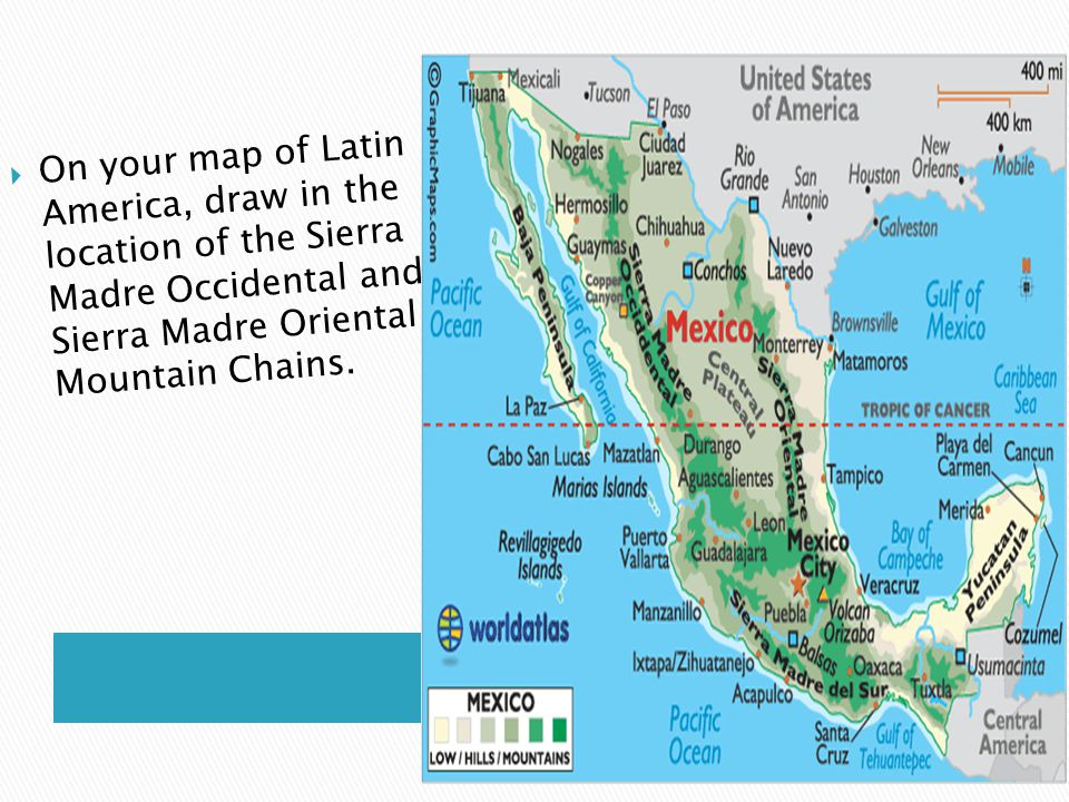 Physical Geography Sections 1 & 2.  Latin America- The region that ...