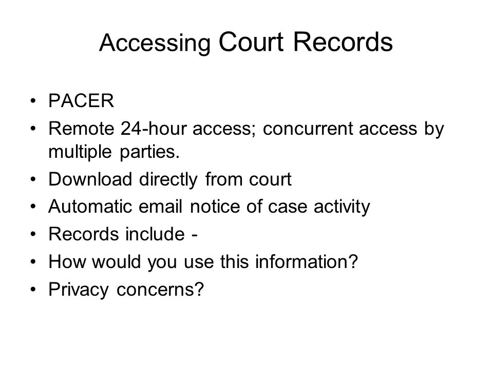Finding Your Way around the Courthouse  Court Records Online – PACER