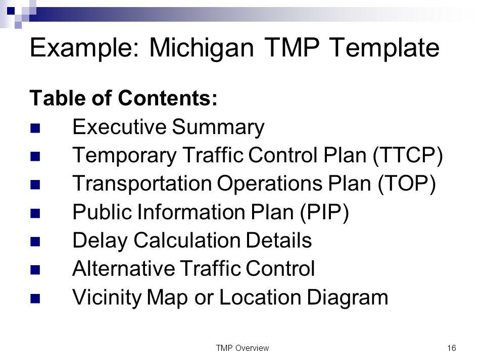 Transportation Management Plan Overview Module ppt download