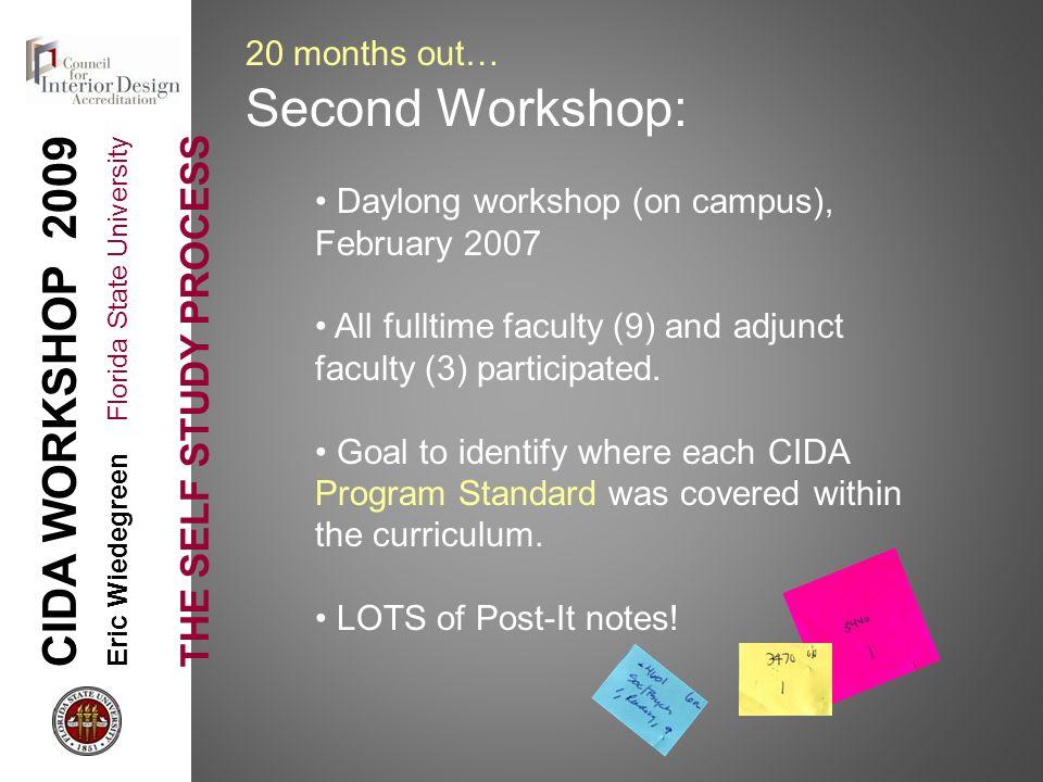 cida workshop 2009 eric wiedegreen florida state university the self
