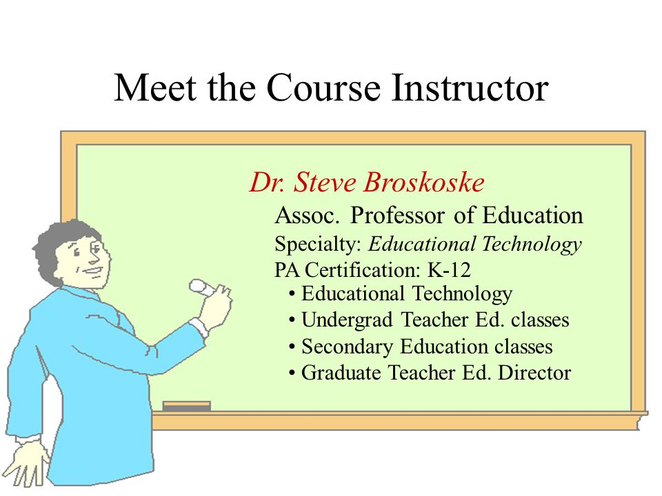 Introduction To Instructional Design Edu 553 Principles Of