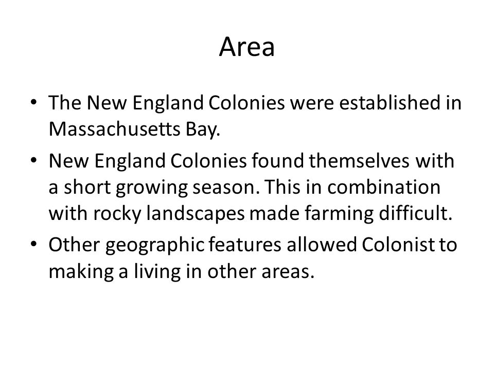 who were the new england colonies