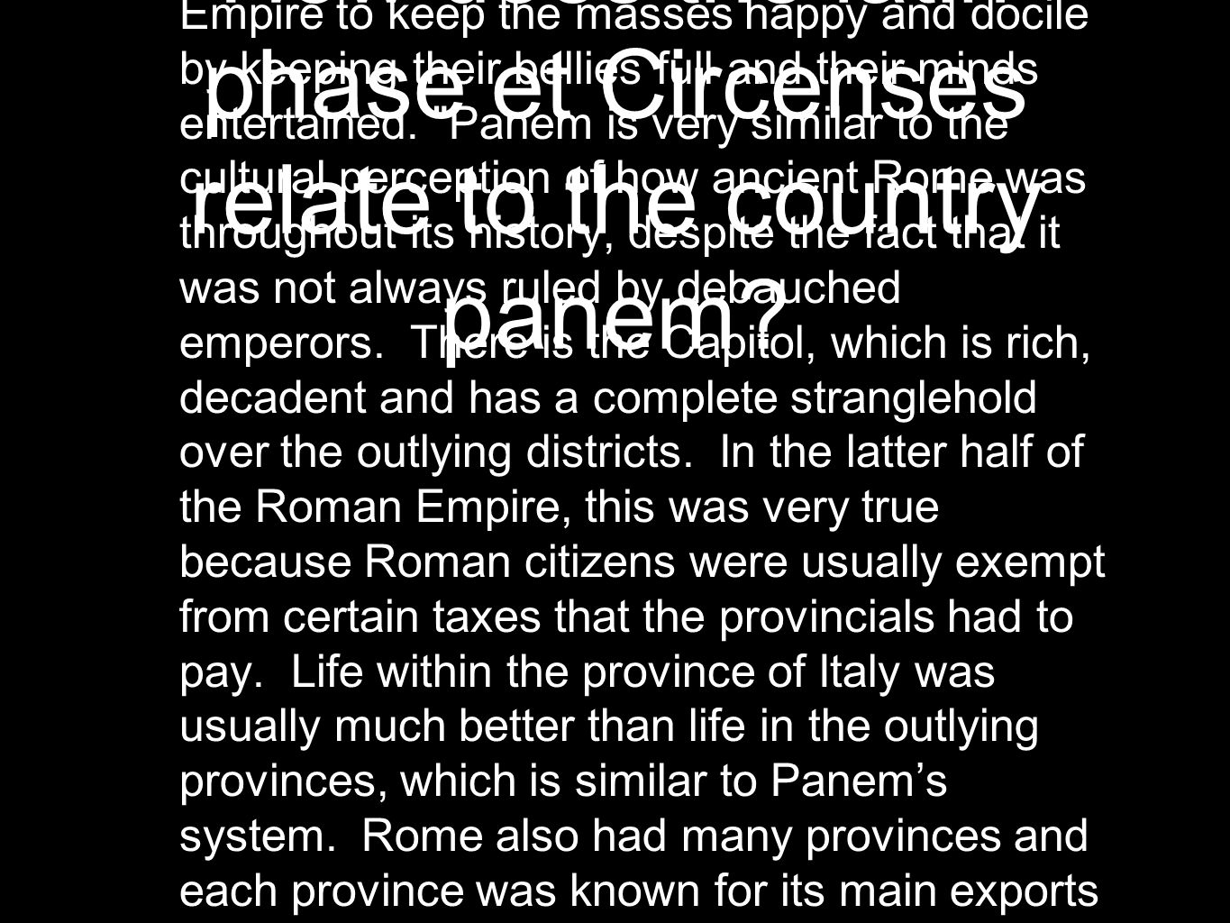 hunger games and ancient rome