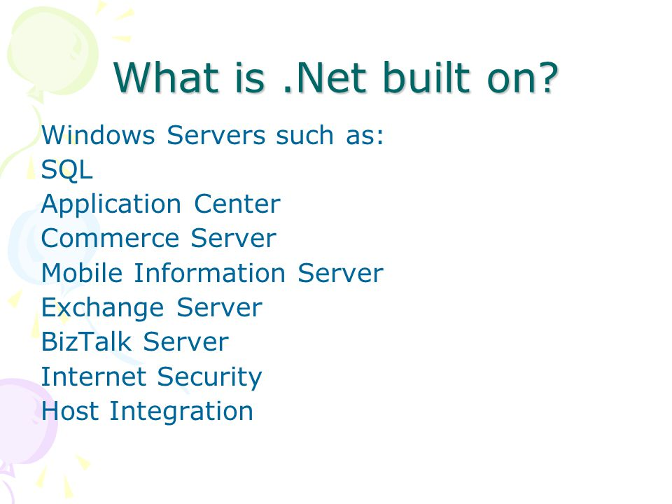 What is.Net built on.