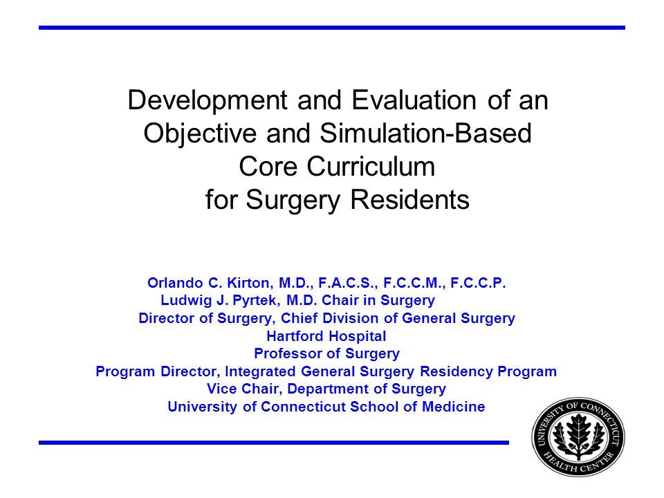 Development and Evaluation of an Objective and Simulation-Based Core