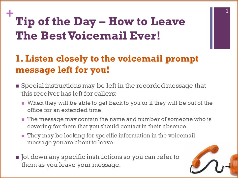 6 tips for leaving the best voic message ever follow these steps to tip of the day how to leave the best voic ever m4hsunfo