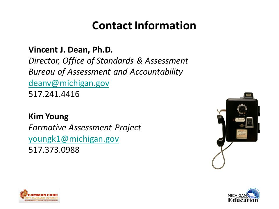 Contact Information Vincent J. Dean, Ph.D.