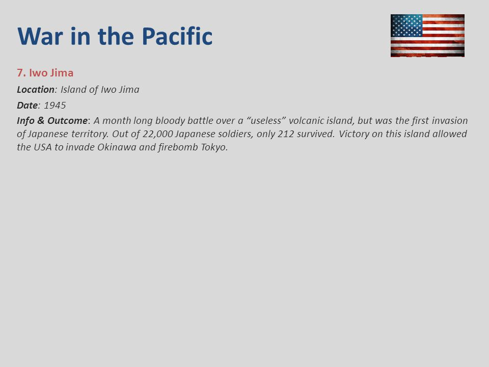War in the Pacific 7.