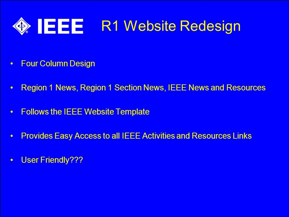 Electronic Communications R1 Website Redesign Create A Website