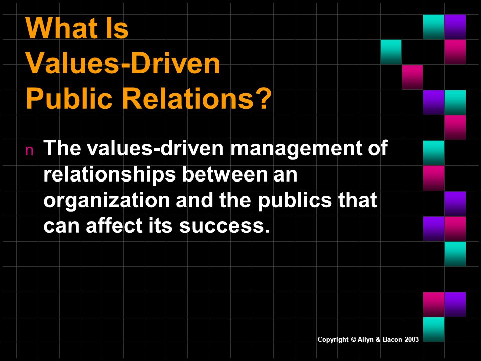 What Is Values-Driven Public Relations.