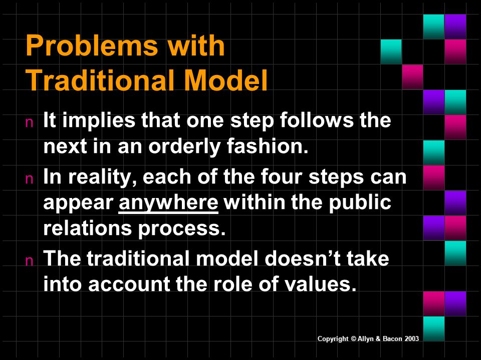 Problems with Traditional Model n It implies that one step follows the next in an orderly fashion.