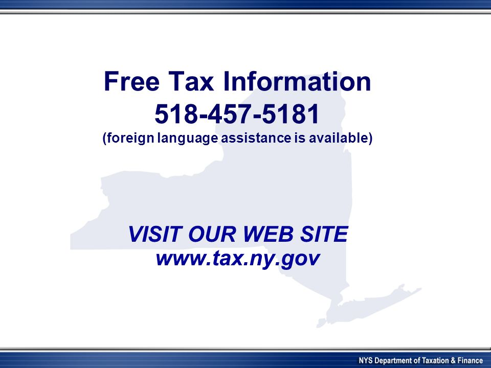 New York State Department Of Taxation And Finance Resident Alien