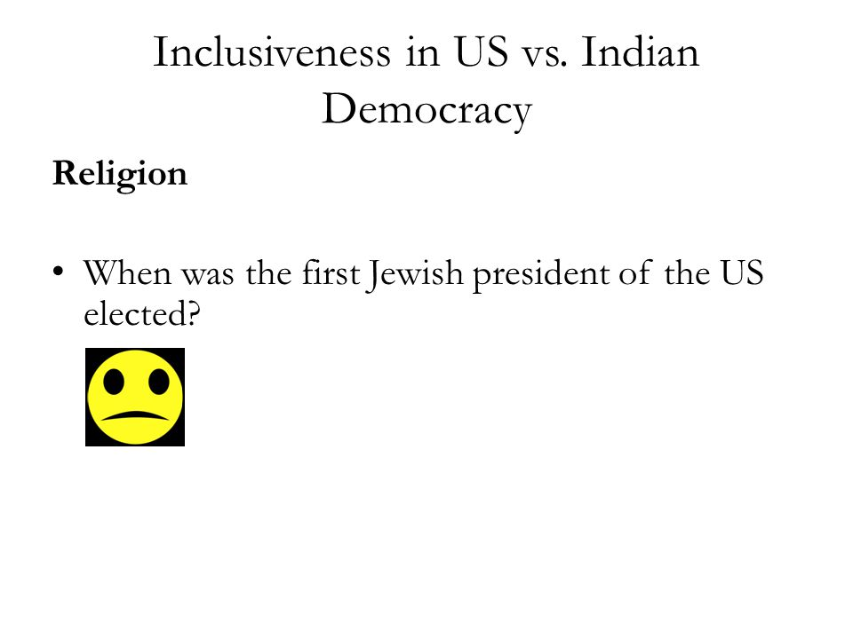 Inclusiveness in US vs.