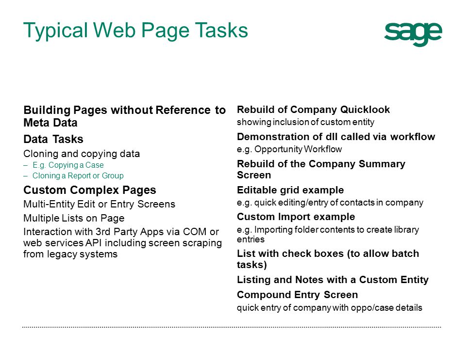 Sage CRM Developers Course Using the NET API (2)  - ppt download