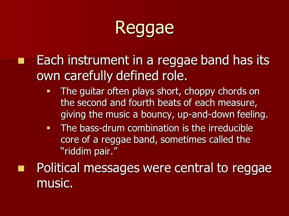 The Rise Of Reggae And Salsa Music Reggae A Potent Mixture Of