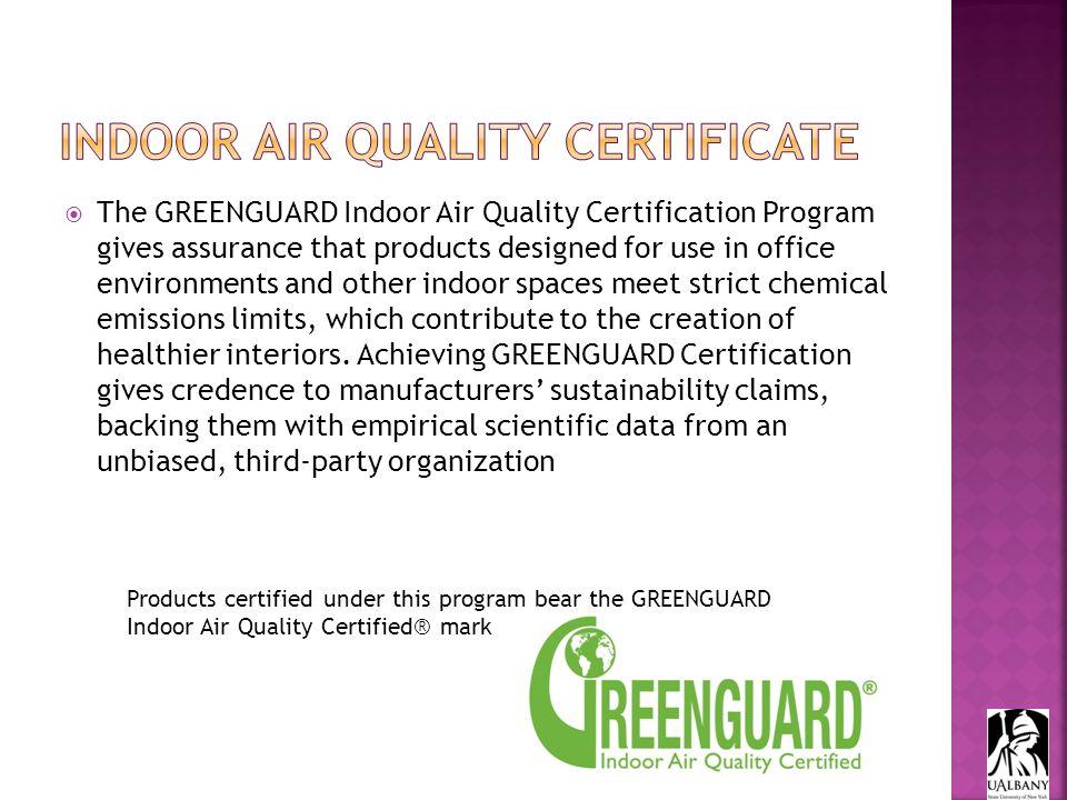 Ul Environments Greenguard Certification Program Helps