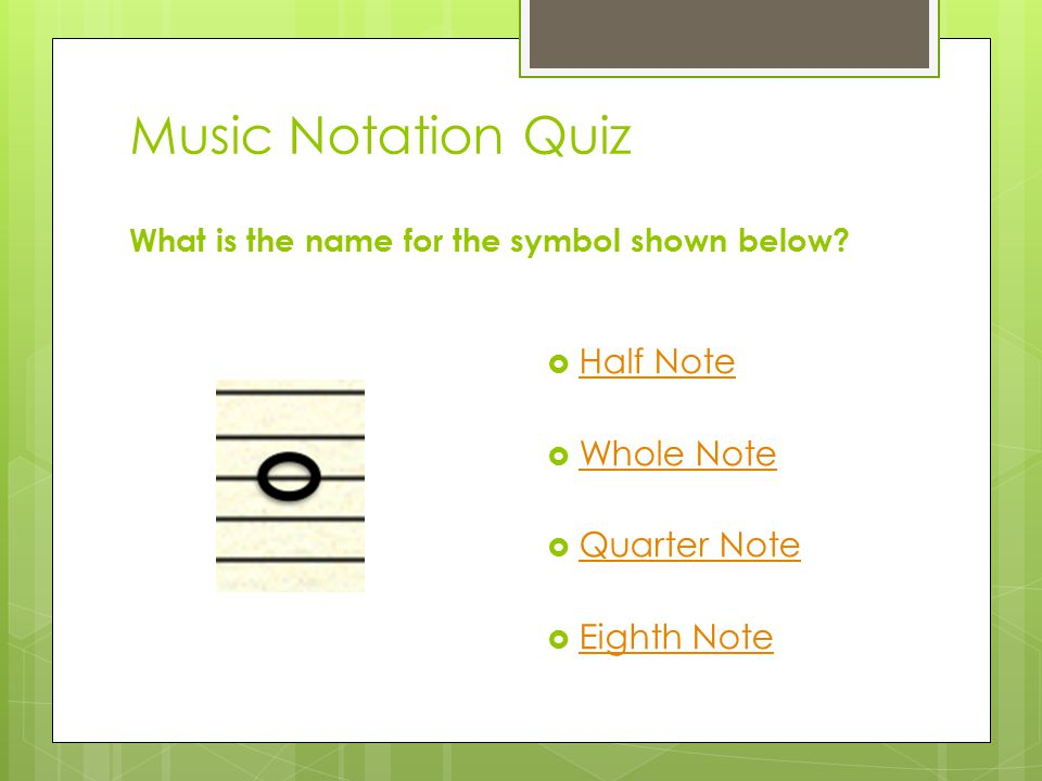 Music Symbols Quiz! Take this quizTake this quiz to see how