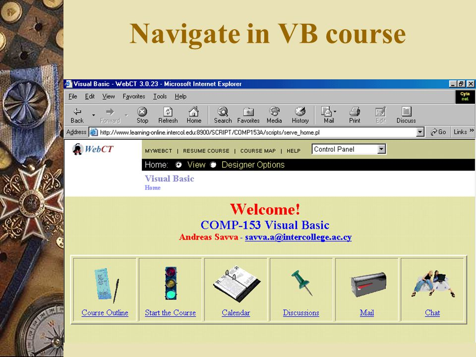 Navigate in VB course