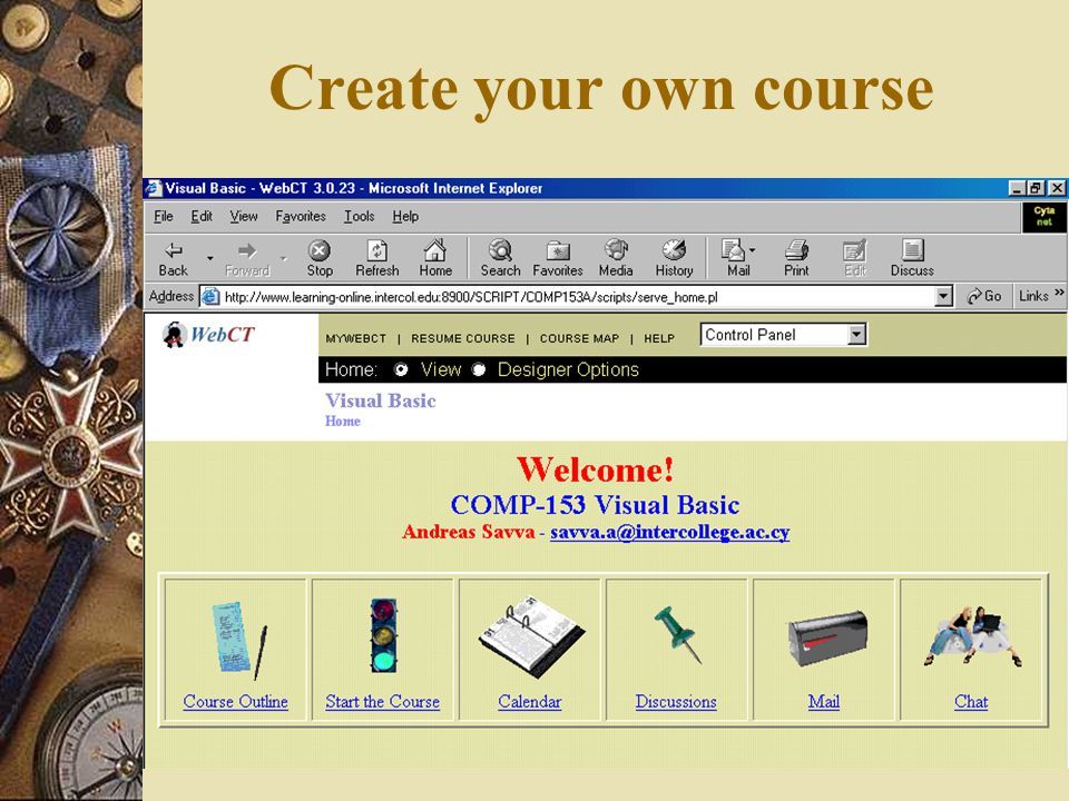 Create your own course