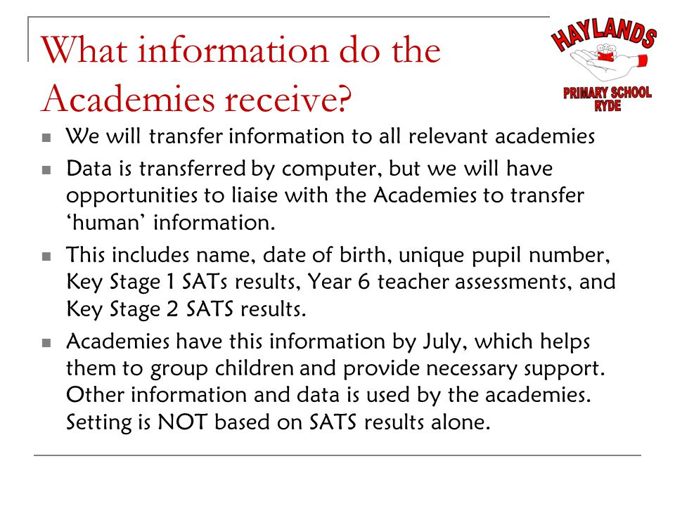 What information do the Academies receive.