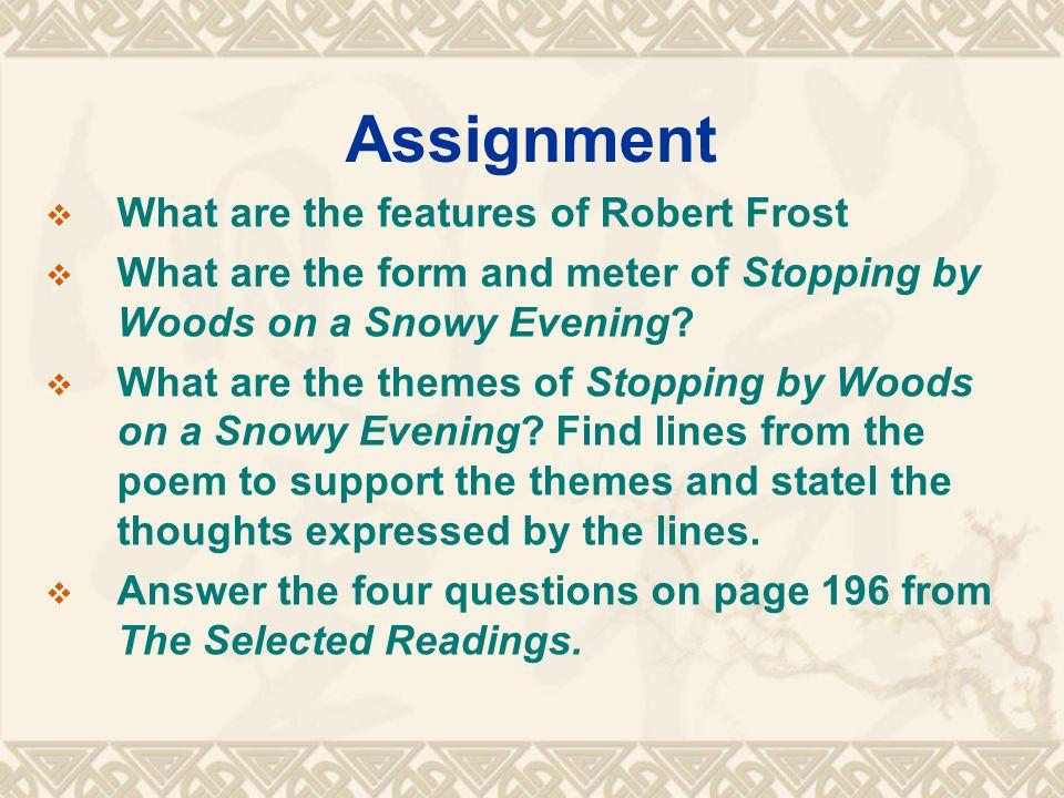 a question robert frost