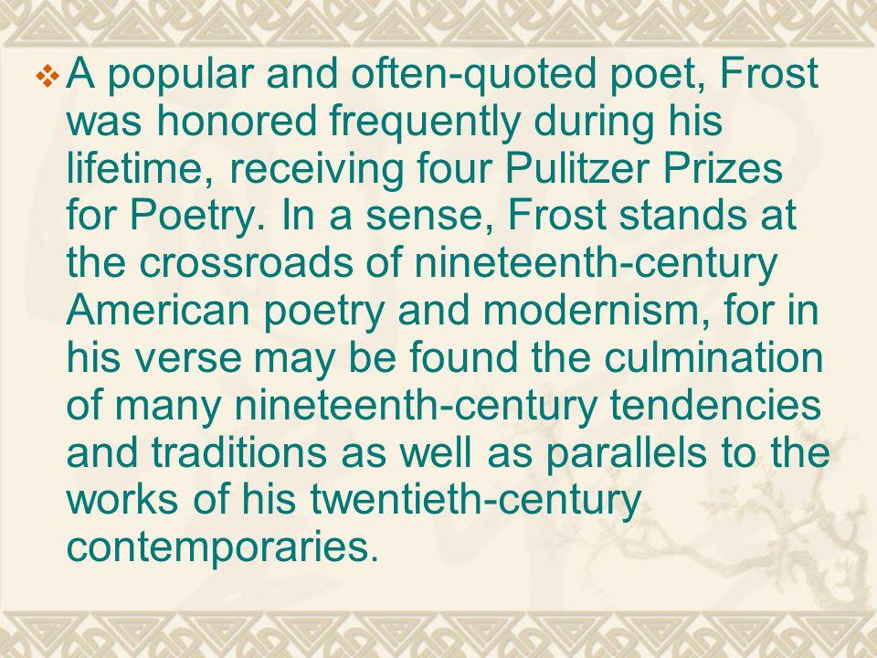 robert frost modernism