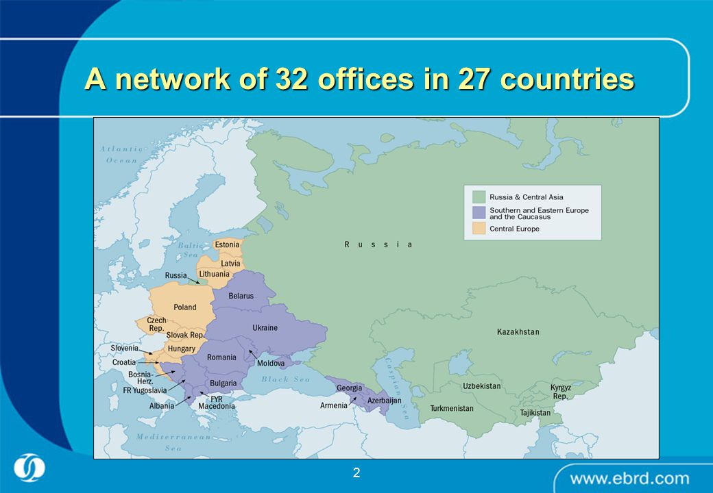2 A network of 32 offices in 27 countries