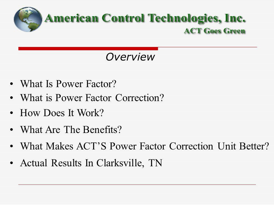 American Control Technologies Inc Power Factor Correction Technology
