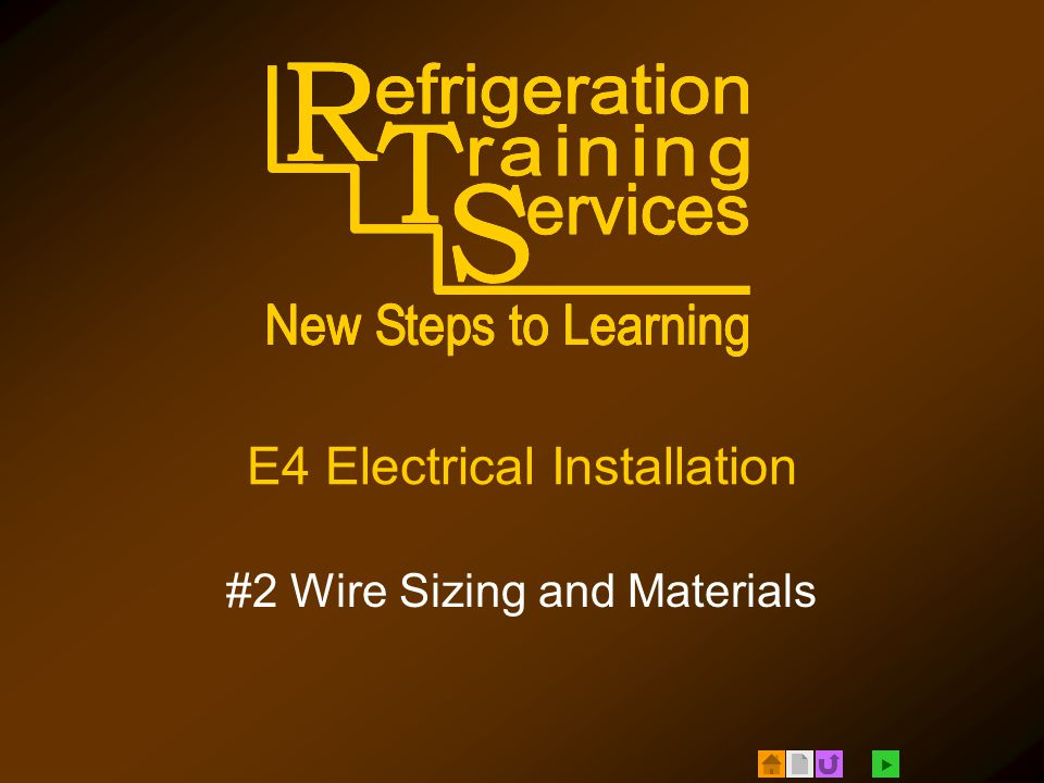 E4 electrical installation 2 wire sizing and materials ppt download 1 e4 electrical installation 2 wire sizing and materials greentooth Gallery