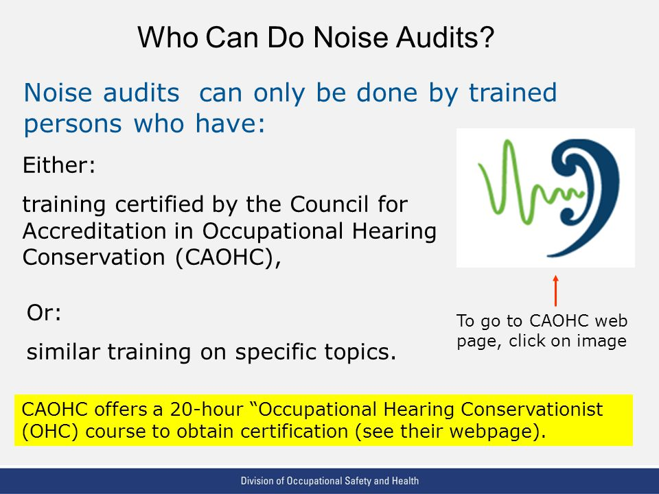 Noise Audits What They Are And The Training Required To Do Them