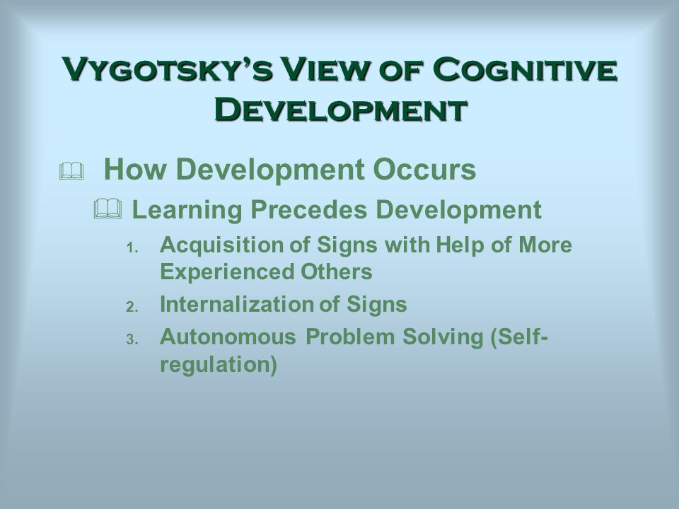vygotskys view of cognitive development