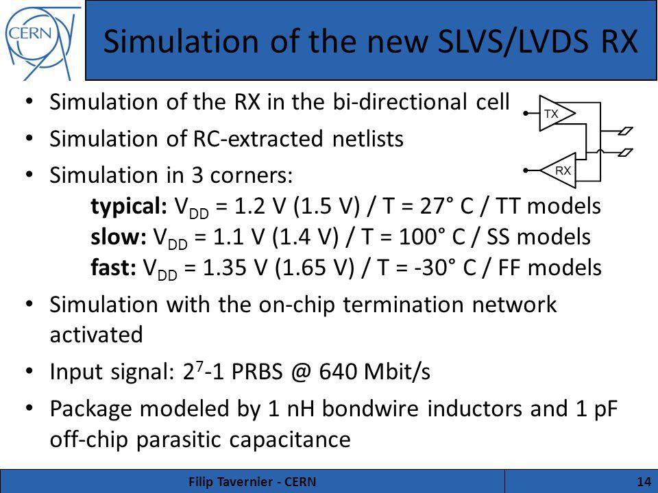 The new E-port interface circuits Filip Tavernier CERN  - ppt download